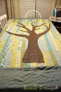 Family Tree Quilt: A How-To Put a Carved heart on the trunk w/initials & each branch is a child. Maybe add a swing hanging down...
