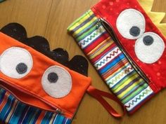 2 free monster pencil case patterns