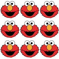 Elmo cake on pinterest elmo birthday cake cake for Printable elmo cake template