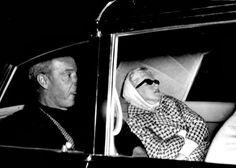 """Joe Dimaggio and Marilyn in March 1961. """