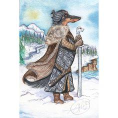 Jon Snow as a dog