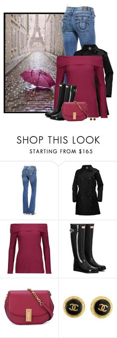"""April Showers"" by sherbear1974 ❤ liked on Polyvore featuring True Religion, Helly Hansen, Splendid, Hunter, Marc Jacobs and Chanel"