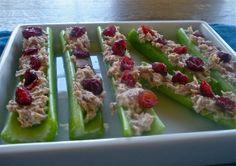 Tuna Salad Celery Logs
