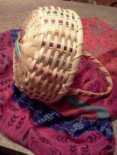The flower girl's spoke bottom basket, tie-dye inspired!