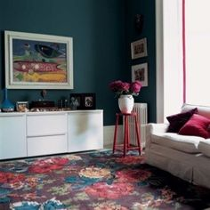 Persian Rose Garden rug by Megan Clark. #interior #design #garden #rug