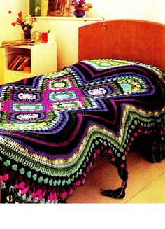 Pattern for crocheted piano afghan from Annies Attic ...