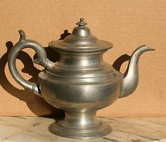 Early 1800's pewter teapot