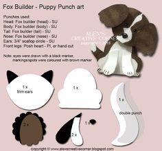 Alexandra Bleicher: Alex's Creative Corner: Welcome Puppy Punch Art card… Paper Punch Art, Punch Art Cards, Foxy Friends Punch, Art Carte, Owl Punch, Punch Punch, Craft Punches, Animal Cards, Cards For Friends