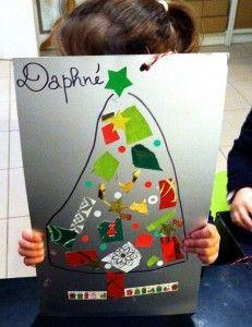 Atelier des touts-petits, sapins de Noël, à Citémômes, Rouen