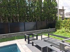 Clôture en panneaux d'acier horizontale avec poteau 2-1/2'' x 2-1/2'' Laval, Deck, Outdoor Decor, Home Decor, Gardens, Horizontal Fence, Sign, Steel, Quote