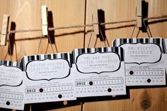 Lift Ticket Place Cards
