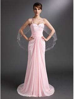 A-Line/Princess Sweetheart Court Train Chiffon Mother of the Bride Dress With Ruffle