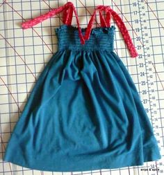 Upcycle an old T-shirt to a kids dress