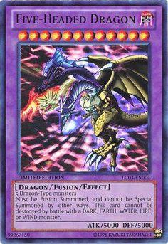 Five-Headed Dragon holo yugioh card