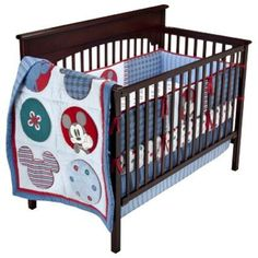 Baby Boy Mod Mickey Mouse Crib Bedding Set Nursery Sheet Disney Mobile
