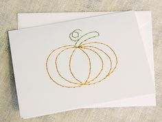 """Autumn holiday stitched card. """"A Good Pick"""""""
