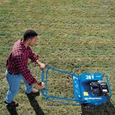 How to Revive Grass: Thinning Lawn- How to use an aerator and power rake to get an old lawn ready for seeding.