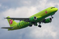 S7 Airlines A320-200; S7, based in Siberia, is now Russia's largest domestic carrier. It joined the OneWorld Alliance in 2010.