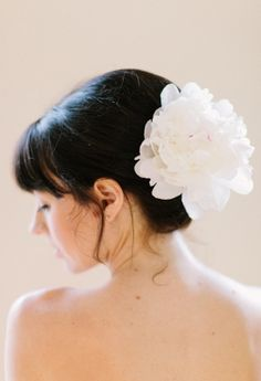 Peach and Silver Wedding Ideas · Ruffled White Peonies, Floral Crown, Bride Hairstyles, Fishtail, Wedding Inspiration, Wedding Ideas, Hair Pieces, Floral Wedding, Bridal Hair