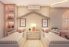 [New] The 10 Best Home Decor Today (with Pictures) Twin Girl Bedrooms, Bed For Girls Room, Cool Kids Bedrooms, Small Room Bedroom, Home Bedroom, Girl Room, Teenage Room, Girl Bedroom Designs, Teen Room Decor