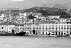 Particolare della Palazzata del porto di Messina in una fotografia di fine '800