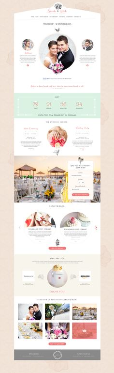 The best WordPress wedding themes of all in one place. Any of these themes would be perfect for your wedding website to share with your friends and family. Wedding Website Design, Wedding Designs, Wedding Styles, Web Design, Flat Design, Modern Design, Graphic Design, Classy Couple, Minimal Theme
