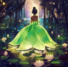 The Princess and the Frog Tiana illustration , Disney princess - Tiana - Disney Fan Art, Disney Princess Art, Frog Princess, Disney Princess Paintings, Tangled Princess, Princess Merida, Disney Princess Drawings, Princess Bubblegum, Walt Disney