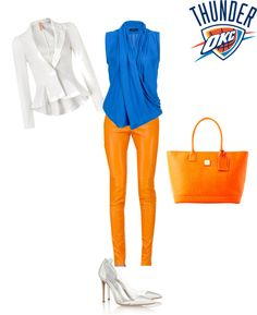 """OKC THUNDER"" by mariagonz on Polyvore  Rehearsal Dinner outfit during the playoffs"