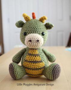 Amigurumi Crochet Pattern - Spike the Dragon by littlemuggles on Etsy https://www.etsy.com/listing/162291114/amigurumi-crochet-pattern-spike-the