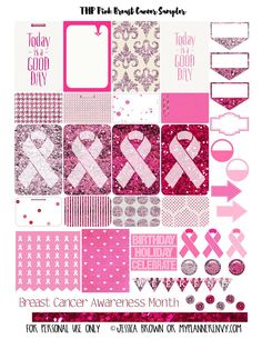 Pink Breast Cancer Sampler for the MAMBI Happy Planner