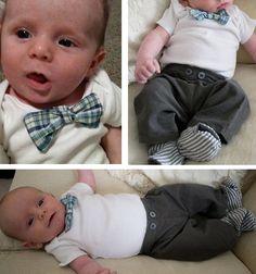 DIY baby boy outfit including DIY corduroy pants!