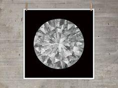 $50 moon diamond print
