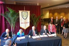 Scenes from yesterday's unveiling of the School of Philanthropy.