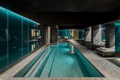 designers Dean and Dan Caten have added a spa and pool to their Ceresio 7 headquarters in Milan Luxury Swimming Pools, Dream Pools, Swimming Pool Designs, Luxury Gym, Piscina Interior, Spa Lighting, Spa Like Bathroom, Indoor Swimming Pools, Wellness Spa