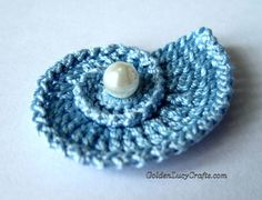 Crochet sea shell applique