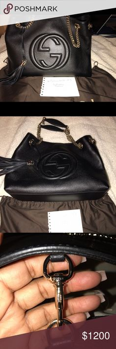 Gucci Leather Hobo Handbag Brand new! This bag comes with receipt and dust bag. This is such a classy bag! 🚫NO TRADES🚫 Asking for trades and lowballing will be ignored. Retails for 1,980! Don't miss out on this steal! Gucci Bags Hobos