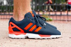 "adidas ZX Flux ""Dark Blue & Solar Red"""
