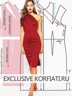 Como-hacer-un-vestido-de-un-solo-hombro06.jpg (480×644)