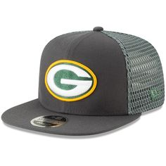 fe7970dd605 Men s Green Bay Packers New Era Graphite Mesh Fresh 9FIFTY Adjustable Snapback  Hat