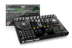 The Traktor Kontrol is a truly professional DJ controller. Just add your laptop and the included Traktor Pro DJ software, and the party is on. Dj Like, Dj System, Music Mixer, Digital Dj, Music Gadgets, New Dj, Audio Studio, Software, Dj Gear