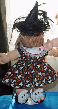 """Cabbage Patch Doll Cloths - Halloween Outfit -  16"""" doll #HandmadeDollCloths #ClothingAccessories"""