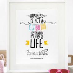 Hoy, en http://www.superbonito.es/, el blog de Mi casa de papel, tenemos una sopresa muy especial para todos vosotros    Póster Happiness - Pósters - Papelería