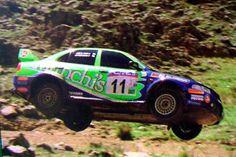 Luis Perez Companc en su Mitsubishi Lancer V. San Luis 2001