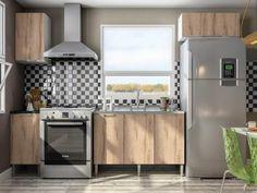 Cozinha Completa Líder Casa Aroma com Balcão - 6 Portas com as melhores condições você encontra no Magazine Tradelux. Confira!