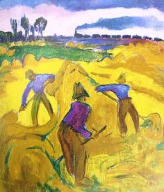 Jan Altink (1885-1971) was een der veelzijdigste schilders uit het Hollandse Expressionisme. Hij stamde uit een veehoudersgezin en kreeg zo zijn voorkeur voor het plattelandsleven mee. Niettemin werkte hij ook in Keulen en Hamburg, aan de Italiaanse Rivièra en in Zwitserland.