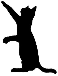 Free Cat Clip Art Image Clip Art Silhouette Of A Cat Pawing At A