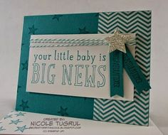 Be Creative with Nicole: Monochromatic for CCMC337 Big News Monochromatic Baby Card.  Would be lovely in any color!