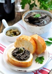Carnival Cruise Line recipe tapenade of olives, capers, anchovies and olive oil.