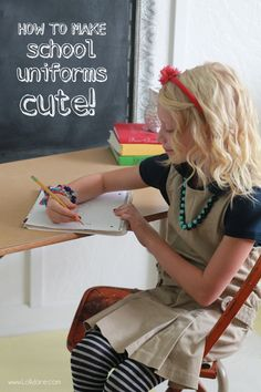 How to make school uniforms cute! Adding a bit of style to a school uniform.