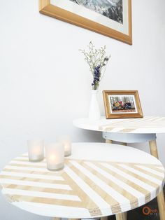 DIY Side tables. Make small table recycling old paint bucket!